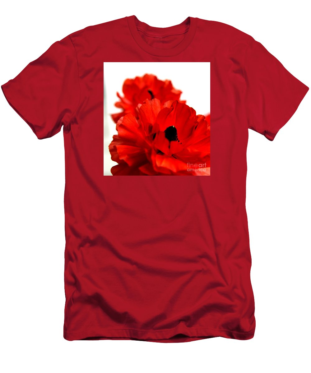 Red Men's T-Shirt (Athletic Fit) featuring the photograph The Red Rose by Artur Gjino