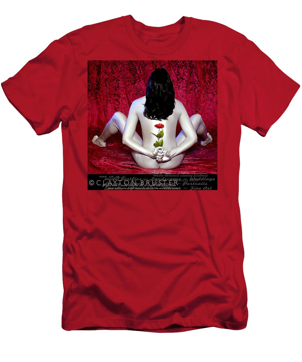 Clay T-Shirt featuring the photograph The Rose by Clayton Bruster