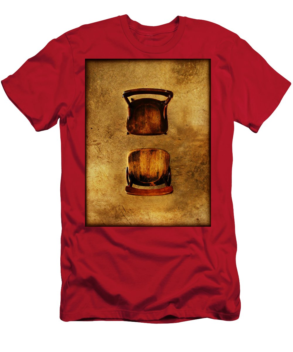 Dipasquale Men's T-Shirt (Athletic Fit) featuring the photograph The Space Between You And Me by Dana DiPasquale