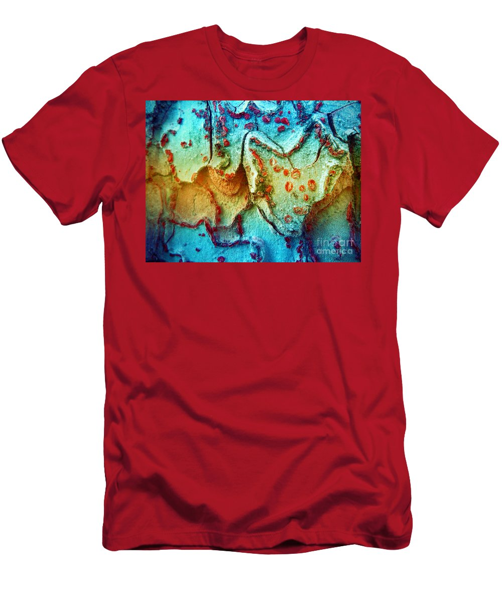Bark Men's T-Shirt (Athletic Fit) featuring the photograph The Stories Trees Have To Tell 2 by Tara Turner