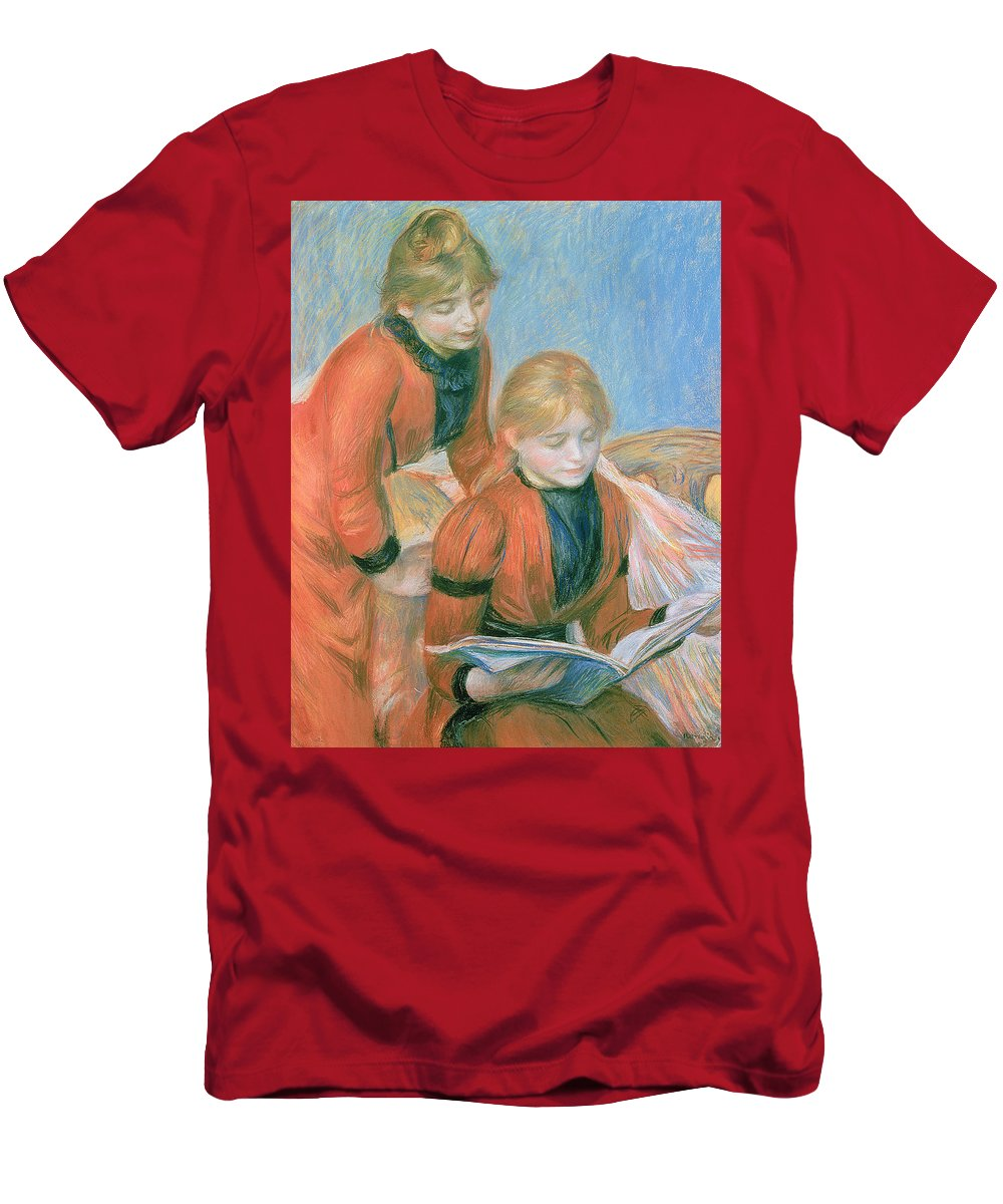 The Men's T-Shirt (Athletic Fit) featuring the pastel The Two Sisters by Pierre Auguste Renoir