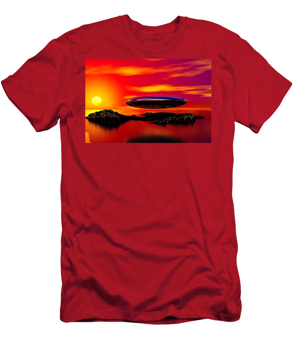 T Men's T-Shirt (Athletic Fit) featuring the digital art The Visitor by David Lane