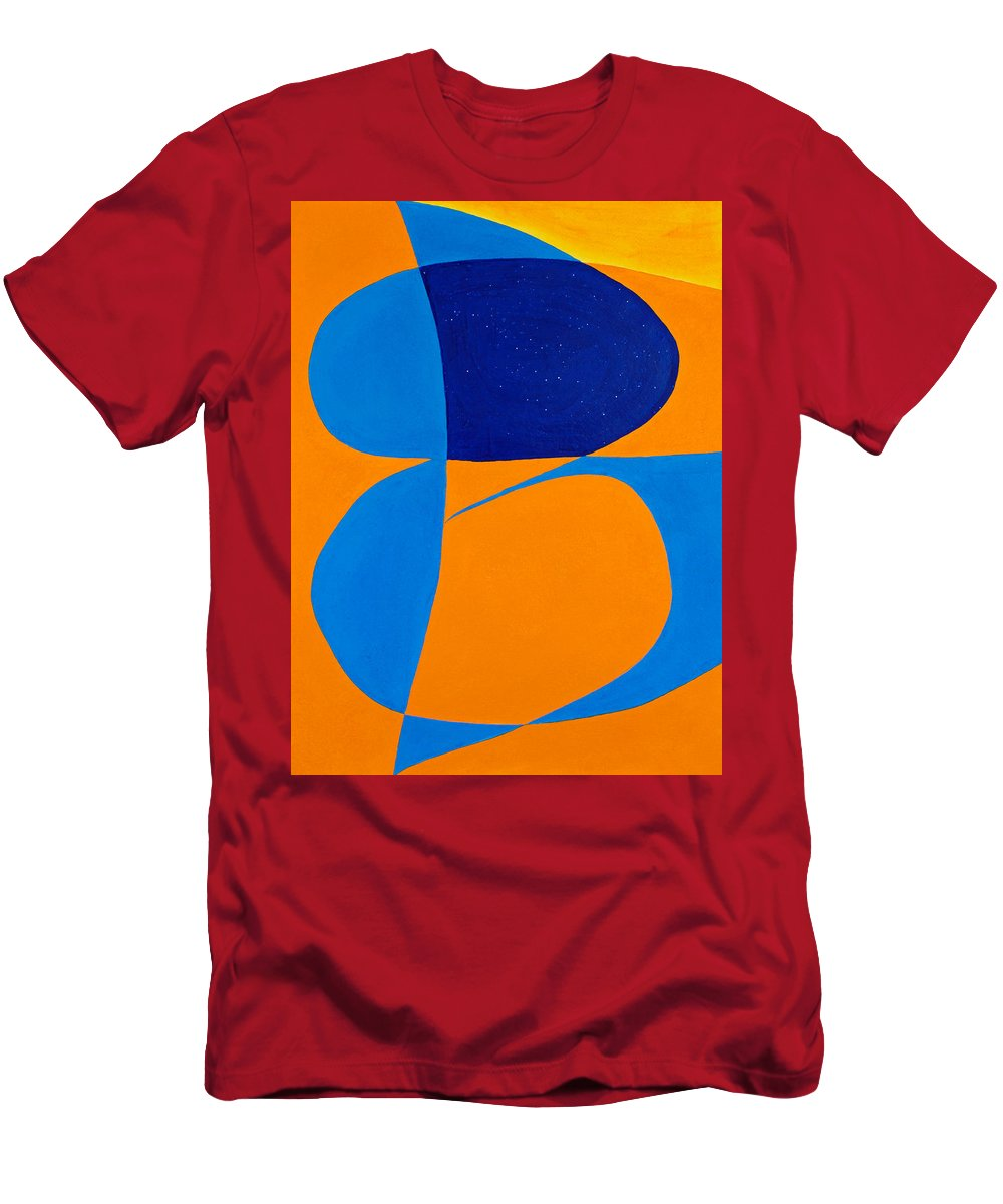 Abstract Men's T-Shirt (Athletic Fit) featuring the painting The Word Be by Lee Serenethos