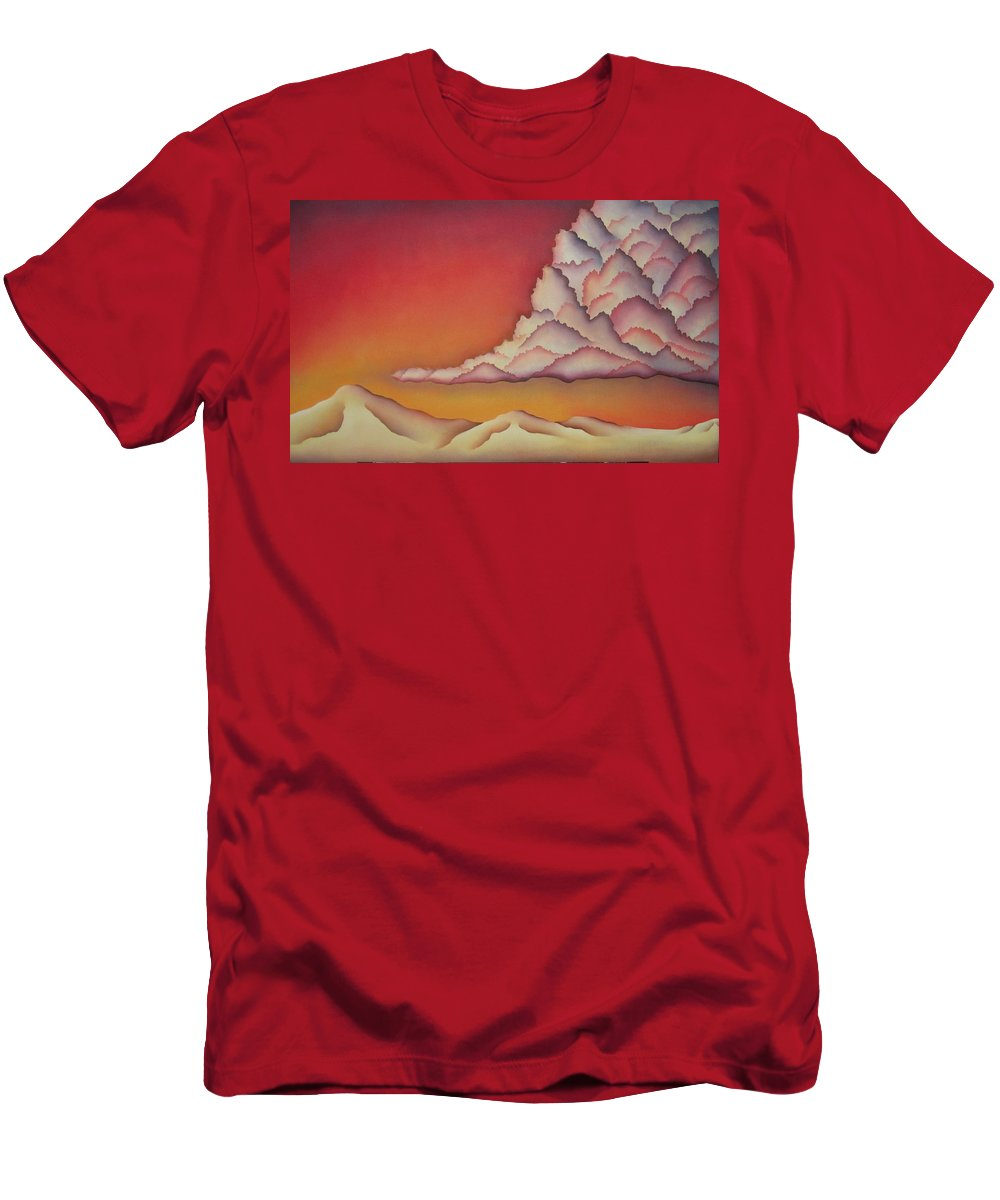 Landscape Men's T-Shirt (Athletic Fit) featuring the painting Thunderhead by Jeniffer Stapher-Thomas