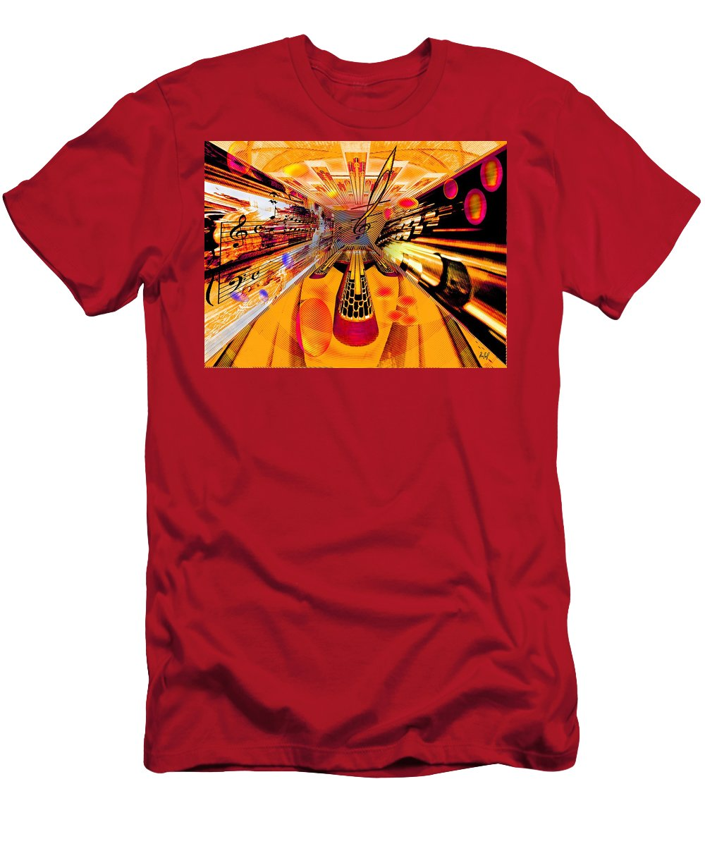 Toccata Men's T-Shirt (Athletic Fit) featuring the digital art Toccata- Masters View by Helmut Rottler