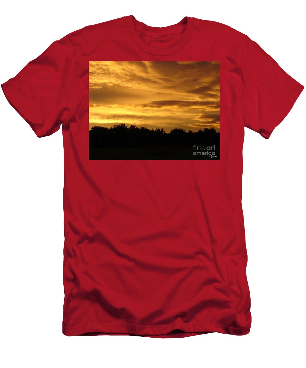 Sunset Men's T-Shirt (Athletic Fit) featuring the photograph Toffee Sunset by Carol Lynch