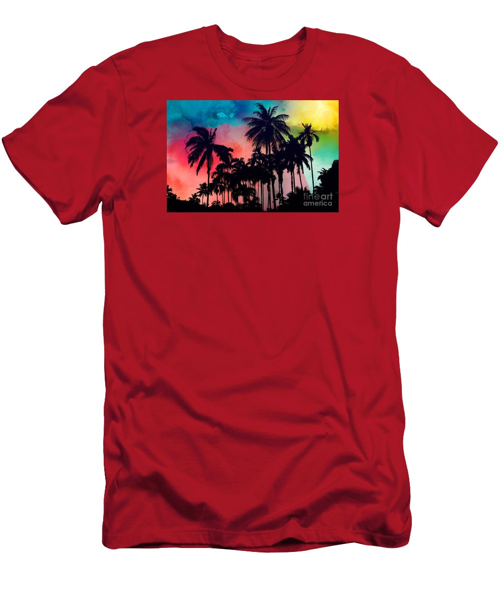 T-Shirt featuring the painting Tropical Colors by Mark Ashkenazi