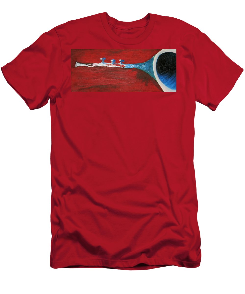 Trumpet Men's T-Shirt (Athletic Fit) featuring the painting Trumpet by Michael Mooney