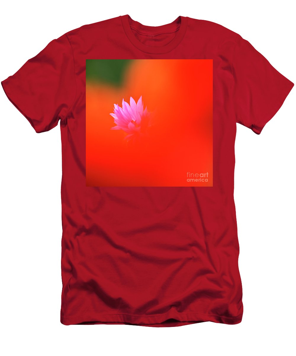 Cornflower Men's T-Shirt (Athletic Fit) featuring the photograph Tucked Away by Heiko Koehrer-Wagner