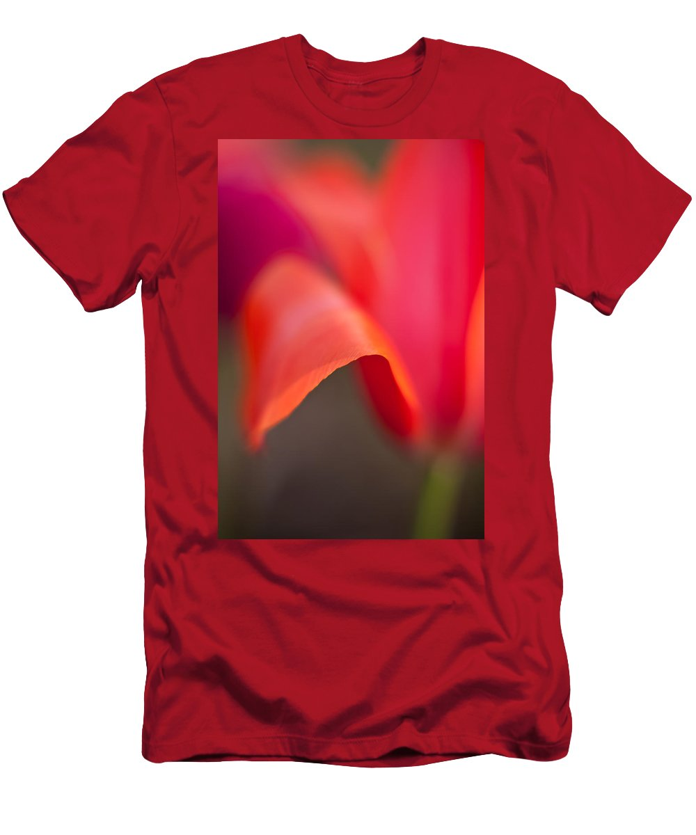 Tulip Men's T-Shirt (Athletic Fit) featuring the photograph Tulip Crest by Mike Reid