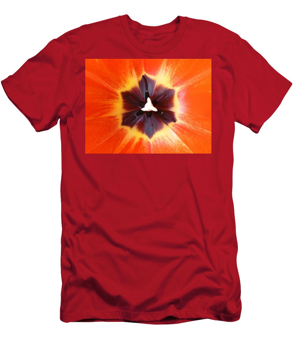 Tulip Men's T-Shirt (Athletic Fit) featuring the photograph Tulip by Daniel Csoka