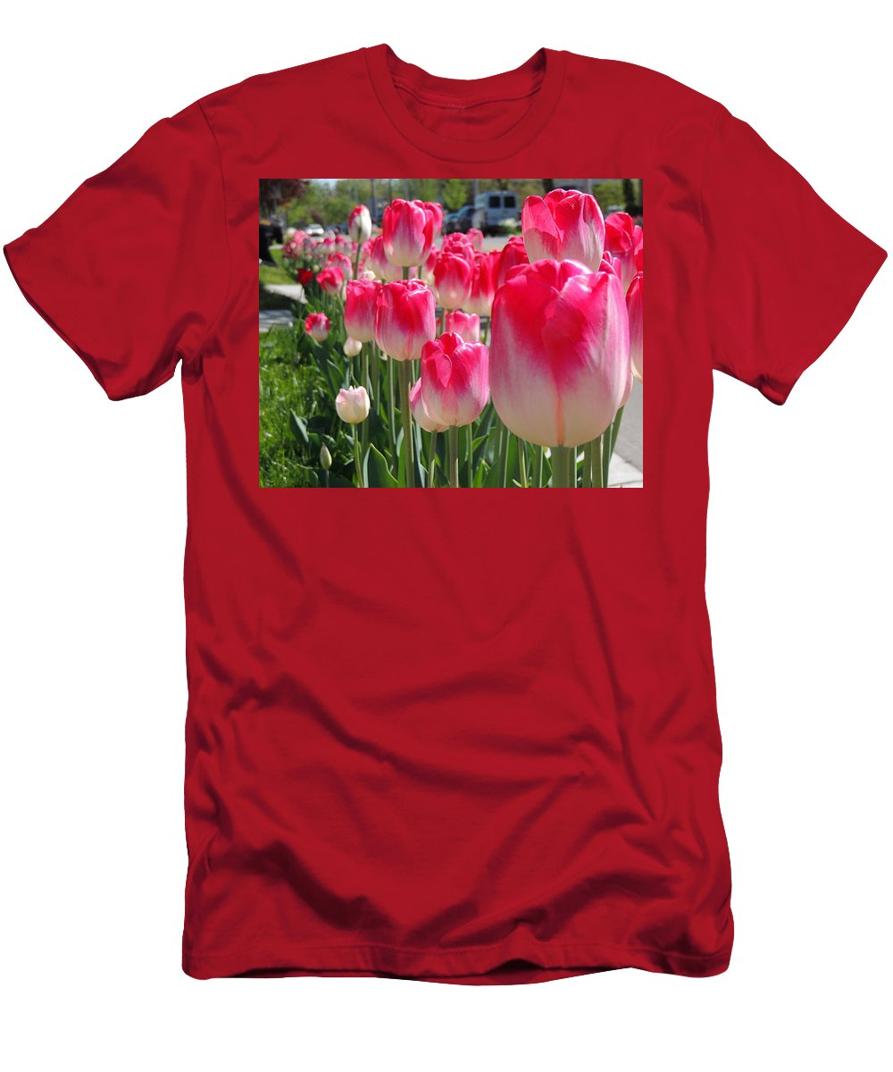 Tulip Time Men's T-Shirt (Athletic Fit) featuring the photograph Tulip Time 2017 by Shon Saylor