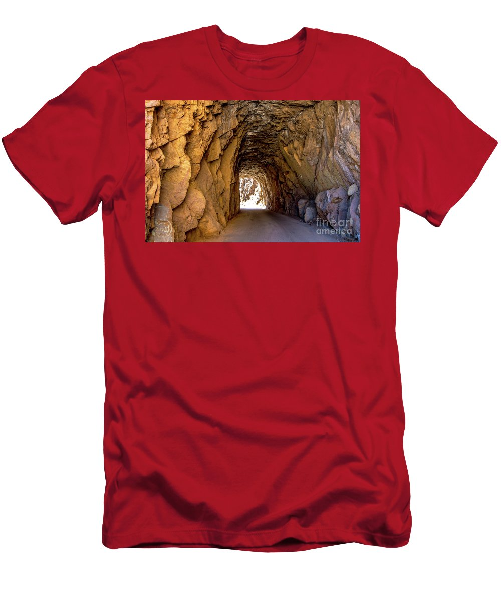 Tunnel Men's T-Shirt (Athletic Fit) featuring the photograph Tunnel Route 4nm by Stephen Whalen