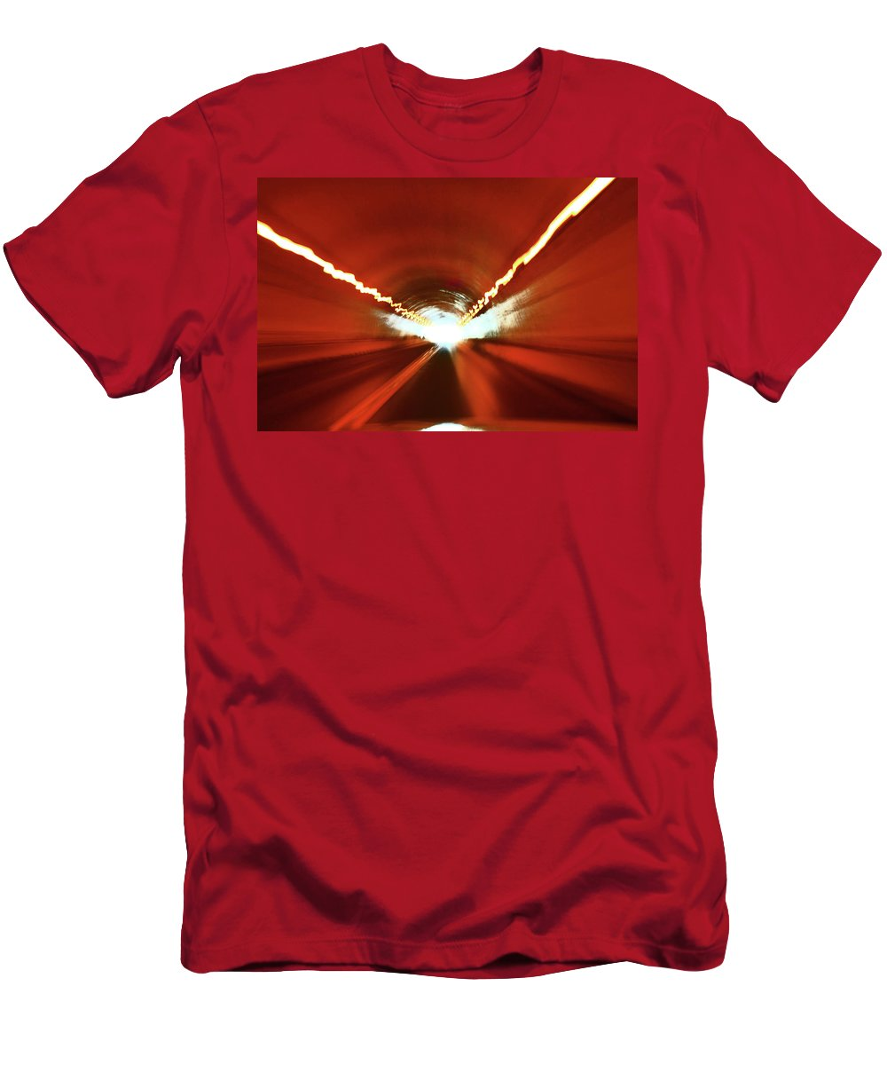 Tunnel Men's T-Shirt (Athletic Fit) featuring the photograph Tunnel Vision by Gray Artus
