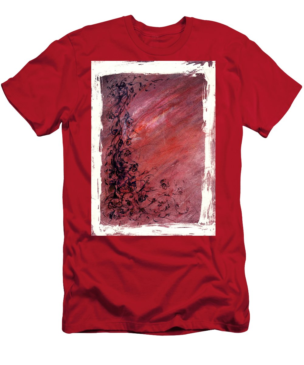 Floral Men's T-Shirt (Athletic Fit) featuring the painting Twilight Rose by Rachel Christine Nowicki