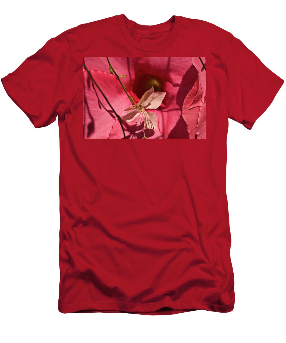Flowers Men's T-Shirt (Athletic Fit) featuring the photograph Two For One by Paul Mangold