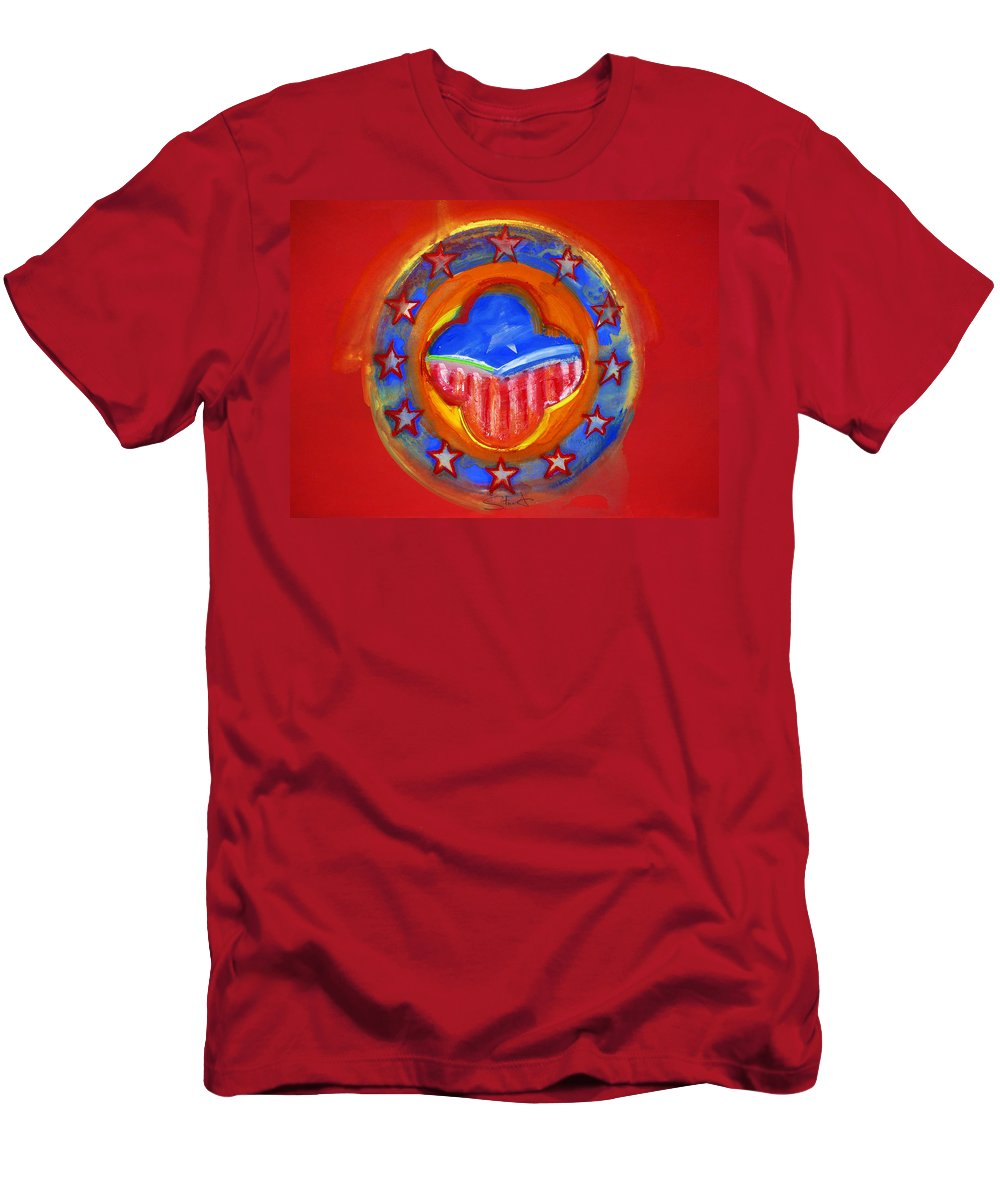 Symbol Men's T-Shirt (Athletic Fit) featuring the painting United States Of Europe by Charles Stuart