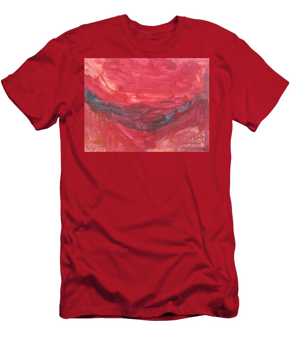 Art Men's T-Shirt (Athletic Fit) featuring the mixed media Untitled 106 Original Painting by Iyanuoluwa Adeshina