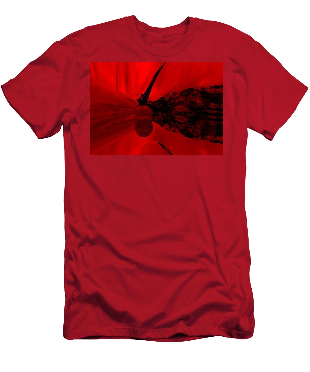 Abstract Men's T-Shirt (Athletic Fit) featuring the digital art Untitled by David Lane