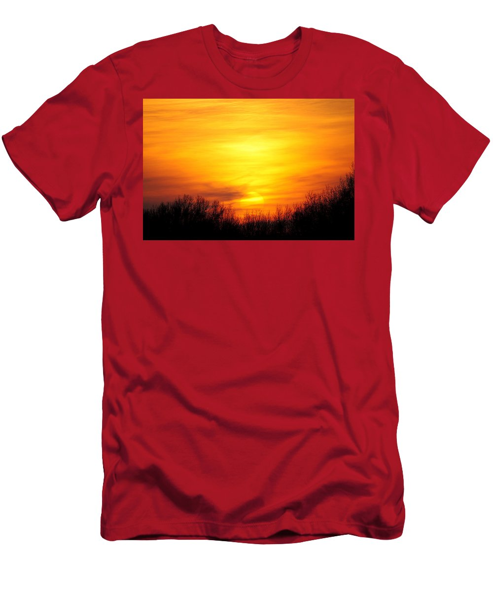 Sun Men's T-Shirt (Athletic Fit) featuring the photograph Valley Of The Sun by Frozen in Time Fine Art Photography