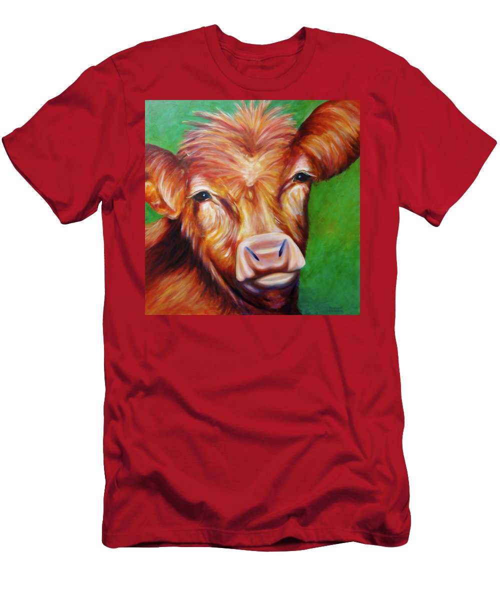 Bull Men's T-Shirt (Athletic Fit) featuring the painting Van by Shannon Grissom