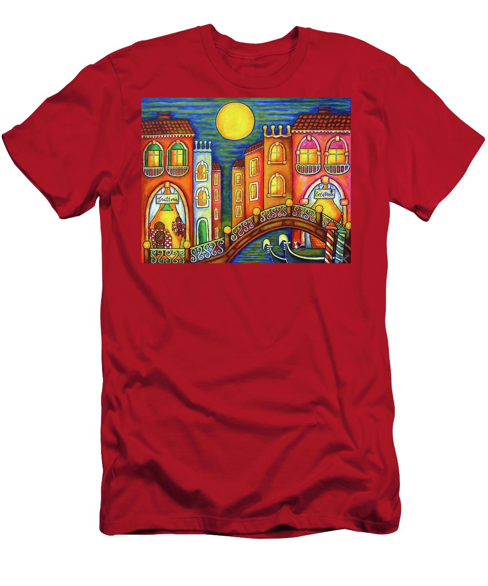 Colourful T-Shirt featuring the painting Venice Soiree by Lisa Lorenz