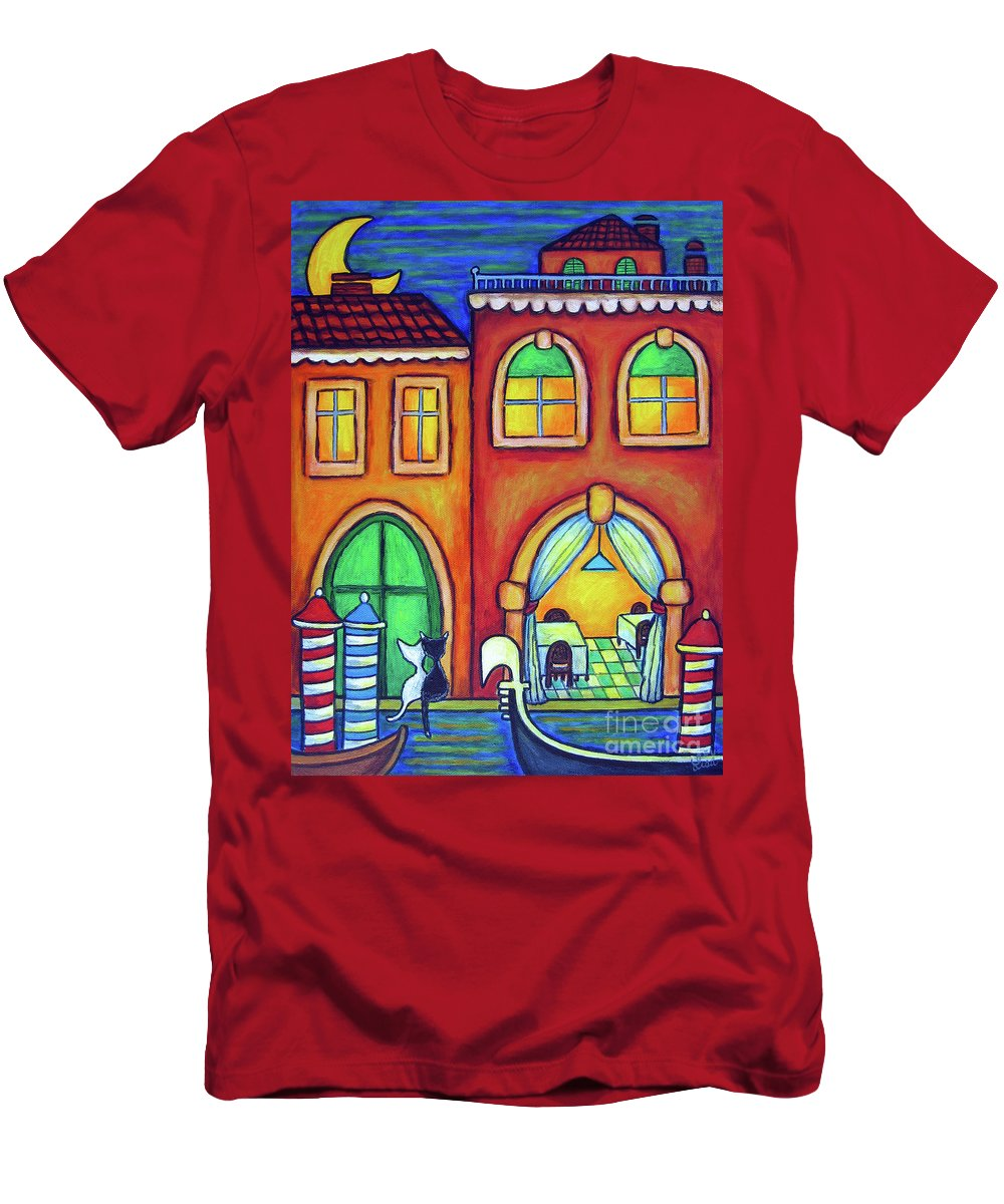 Venice T-Shirt featuring the painting Venice Valentine II by Lisa Lorenz