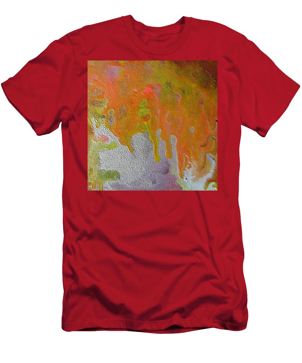 Abstract Encaustic Men's T-Shirt (Athletic Fit) featuring the painting W 050 by Dragica Micki Fortuna