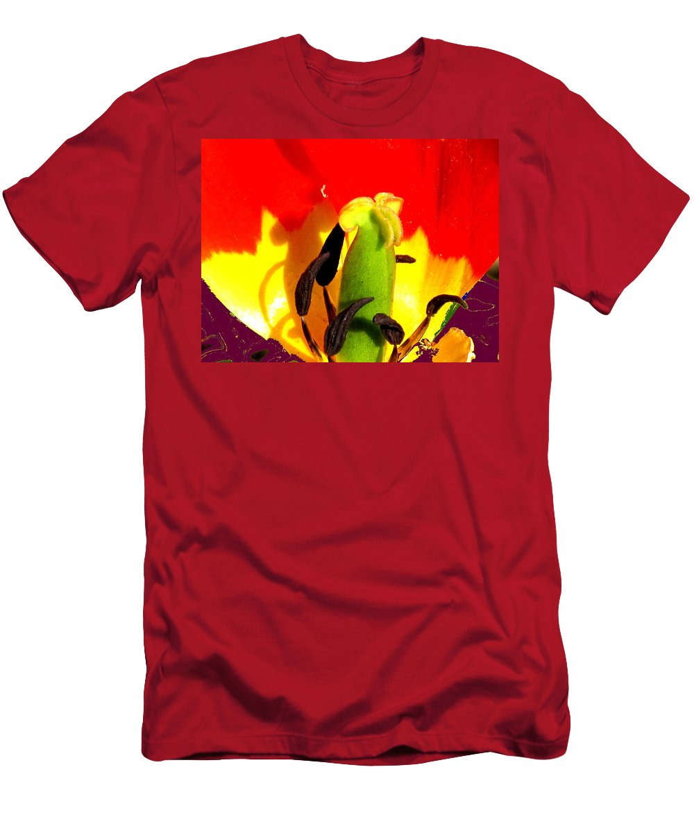 Abstract Men's T-Shirt (Athletic Fit) featuring the photograph Waiting by Ian MacDonald
