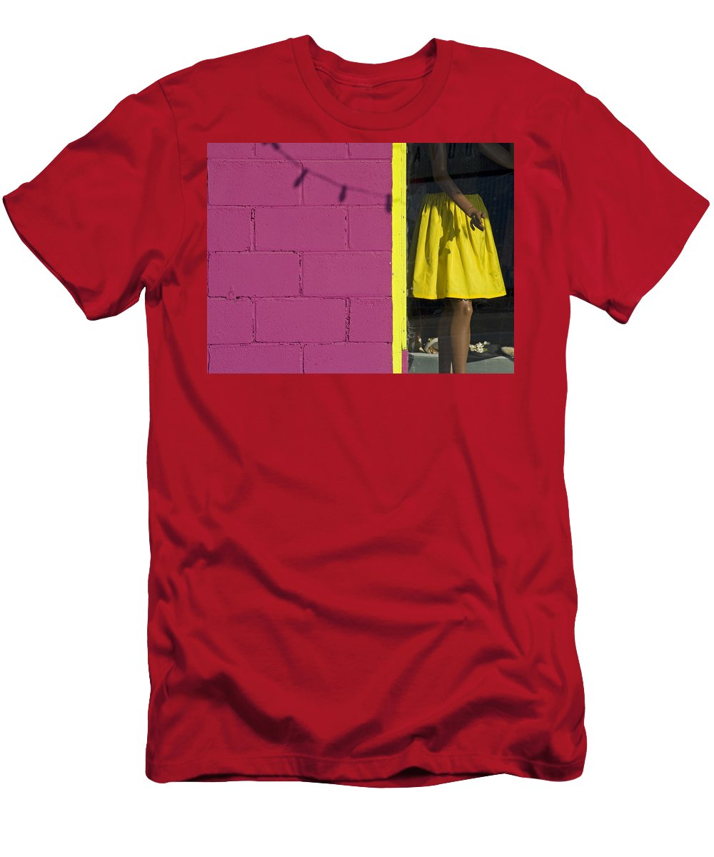 Woman Men's T-Shirt (Athletic Fit) featuring the photograph Waiting by Skip Hunt