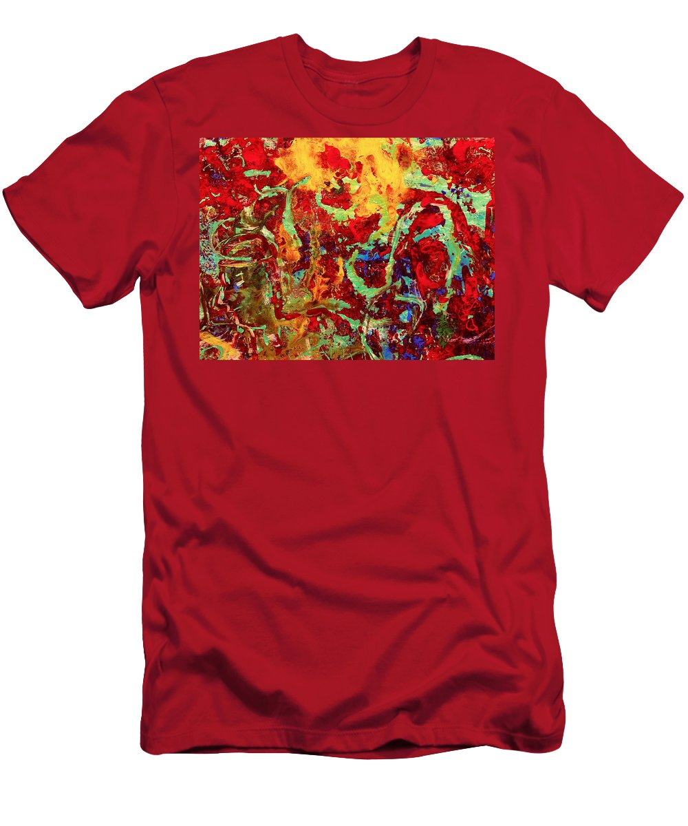Abstract Men's T-Shirt (Athletic Fit) featuring the painting Walking In The Garden by Natalie Holland
