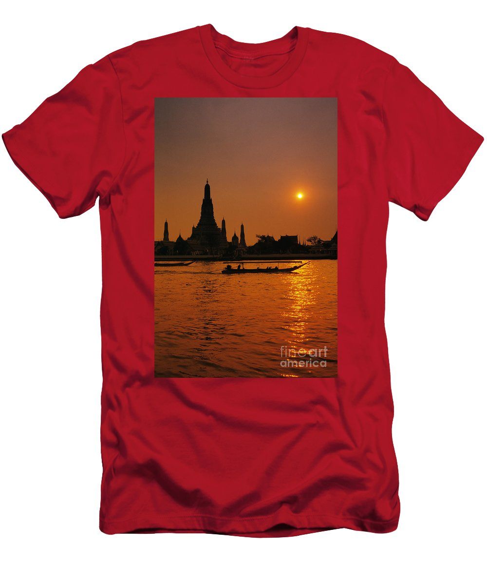 Architecture Men's T-Shirt (Athletic Fit) featuring the photograph Wat Anun Temple by Gloria & Richard Maschmeyer - Printscapes