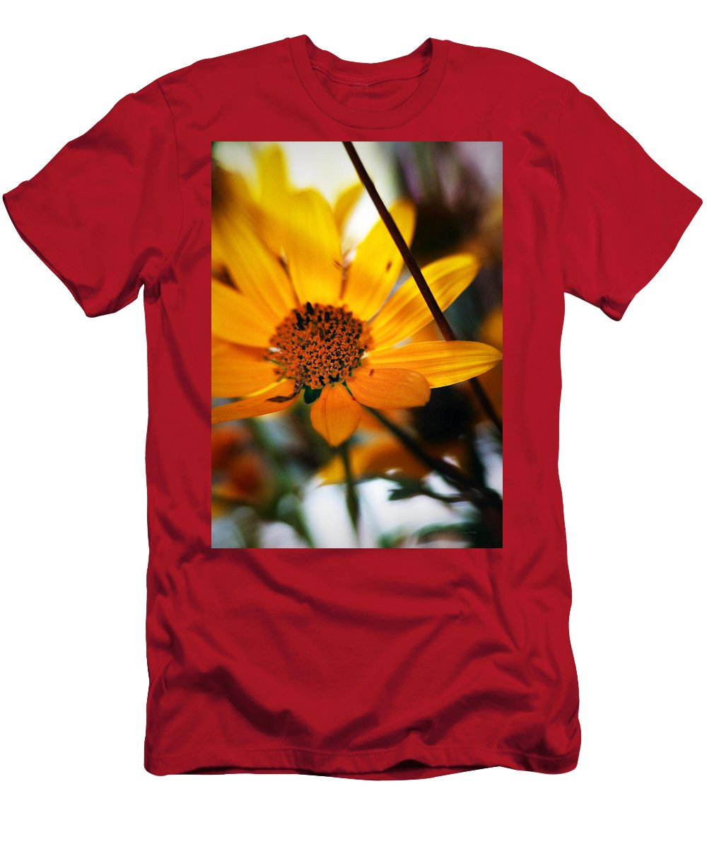 Flowers Men's T-Shirt (Athletic Fit) featuring the photograph Welcome... by Arthur Miller