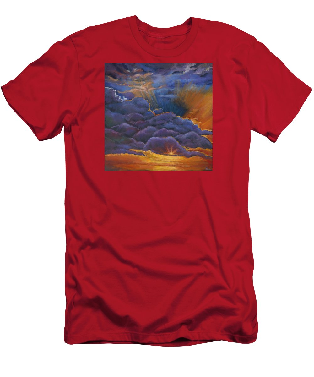 Cloudscapes T-Shirt featuring the painting Welcome the Night by Johnathan Harris