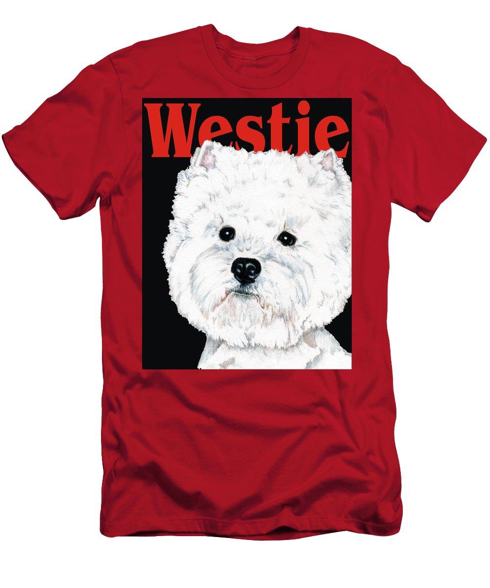 Westie T-Shirt featuring the drawing West Highland White Terrier Westie Urban Pop by Kathleen Sepulveda