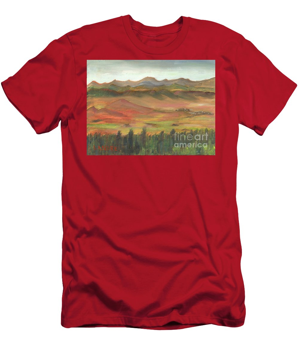 Colorado T-Shirt featuring the painting Westcliffe Valley I by Lilibeth Andre