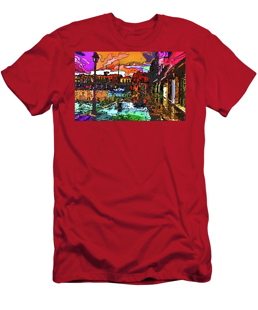 World's Men's T-Shirt (Athletic Fit) featuring the digital art Wet Reflections by Ron Fleishman