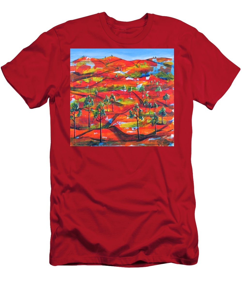 Landscape T-Shirt featuring the painting Where The Road Goes   by Rollin Kocsis