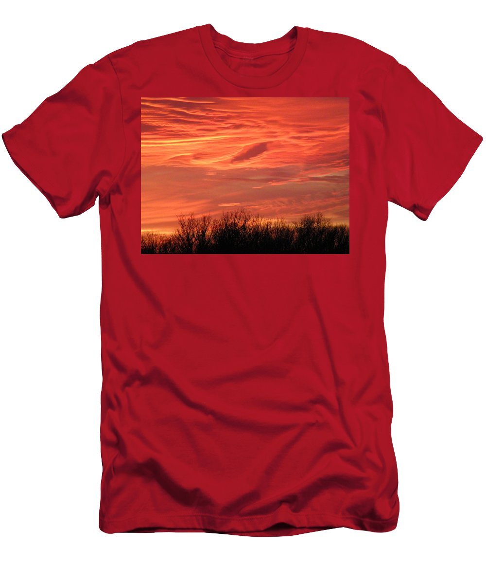 Sunset Men's T-Shirt (Athletic Fit) featuring the photograph Who Needs Jupiter by Gale Cochran-Smith