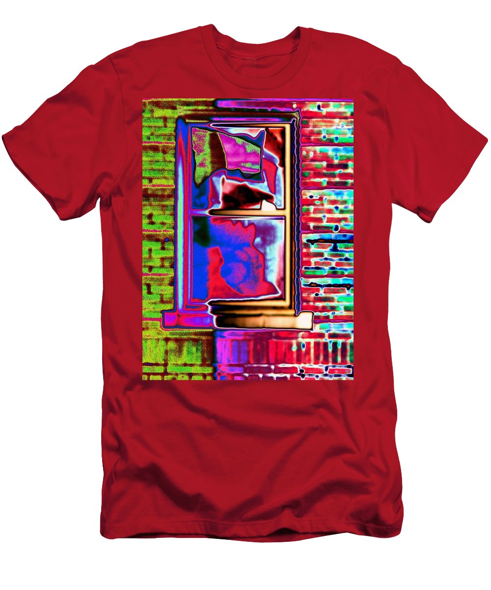 Window Men's T-Shirt (Athletic Fit) featuring the digital art Window 1 by Tim Allen