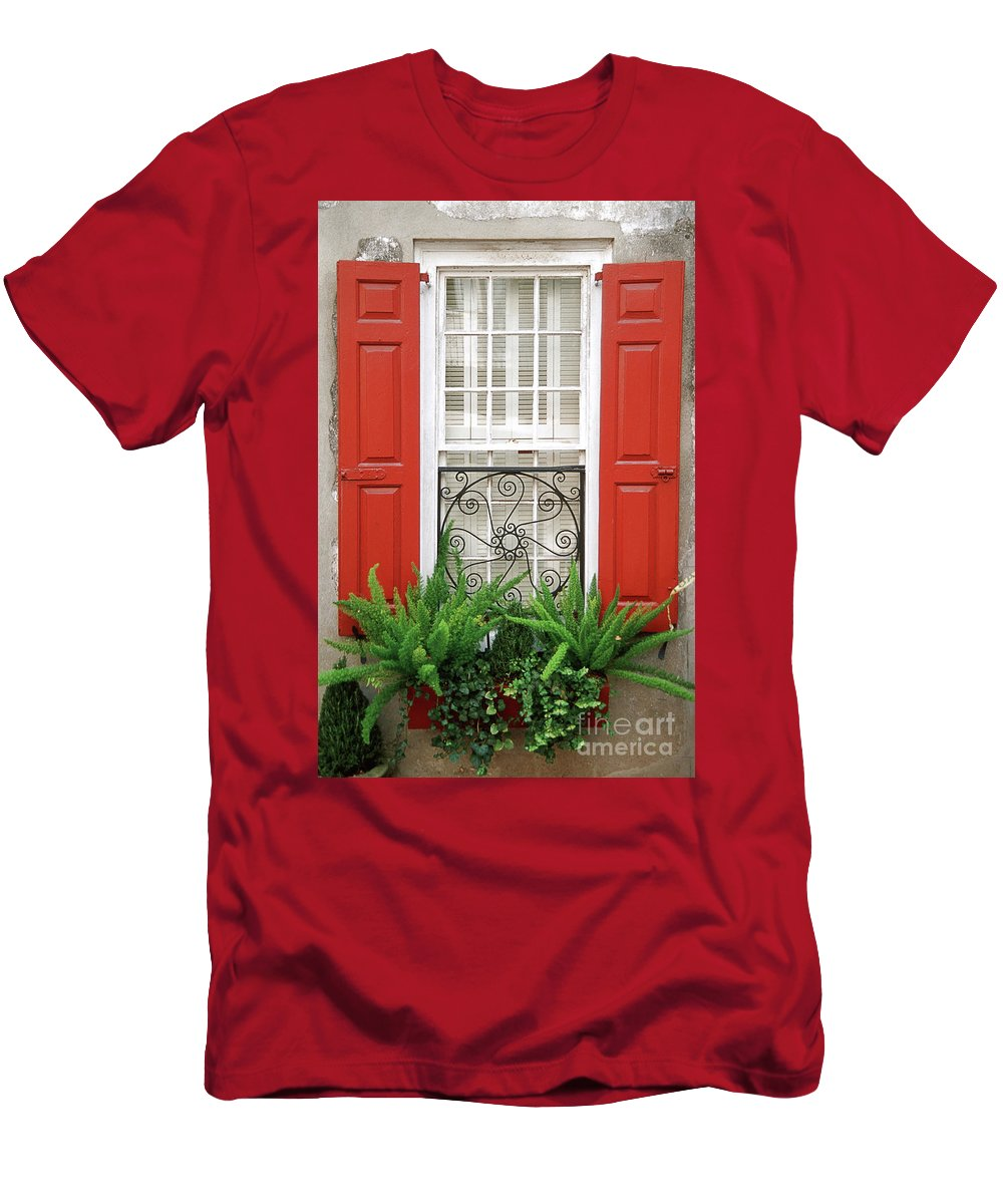 Window Men's T-Shirt (Athletic Fit) featuring the photograph Window by Bruce Bain