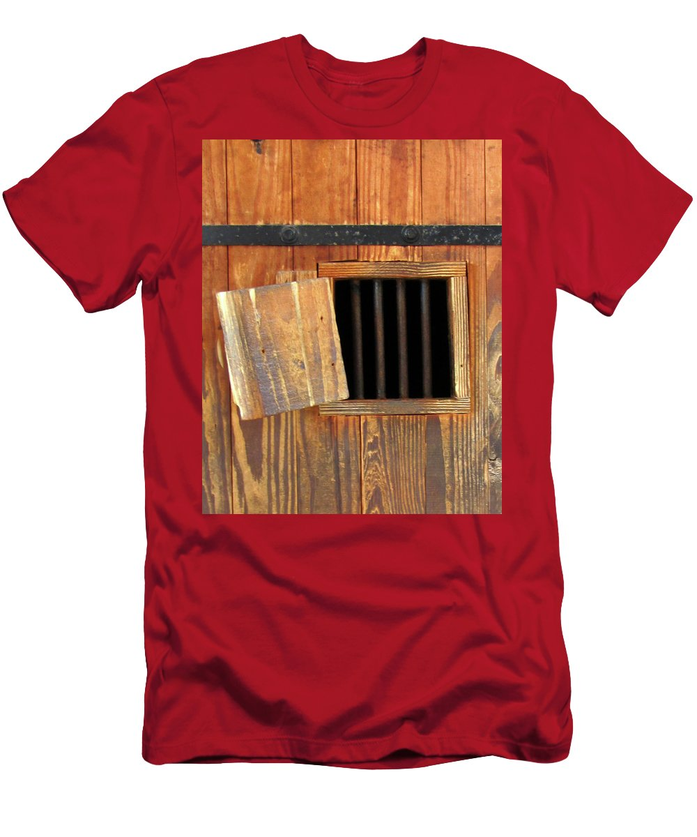 Window Men's T-Shirt (Athletic Fit) featuring the photograph Window Of Darkness by Peg Urban