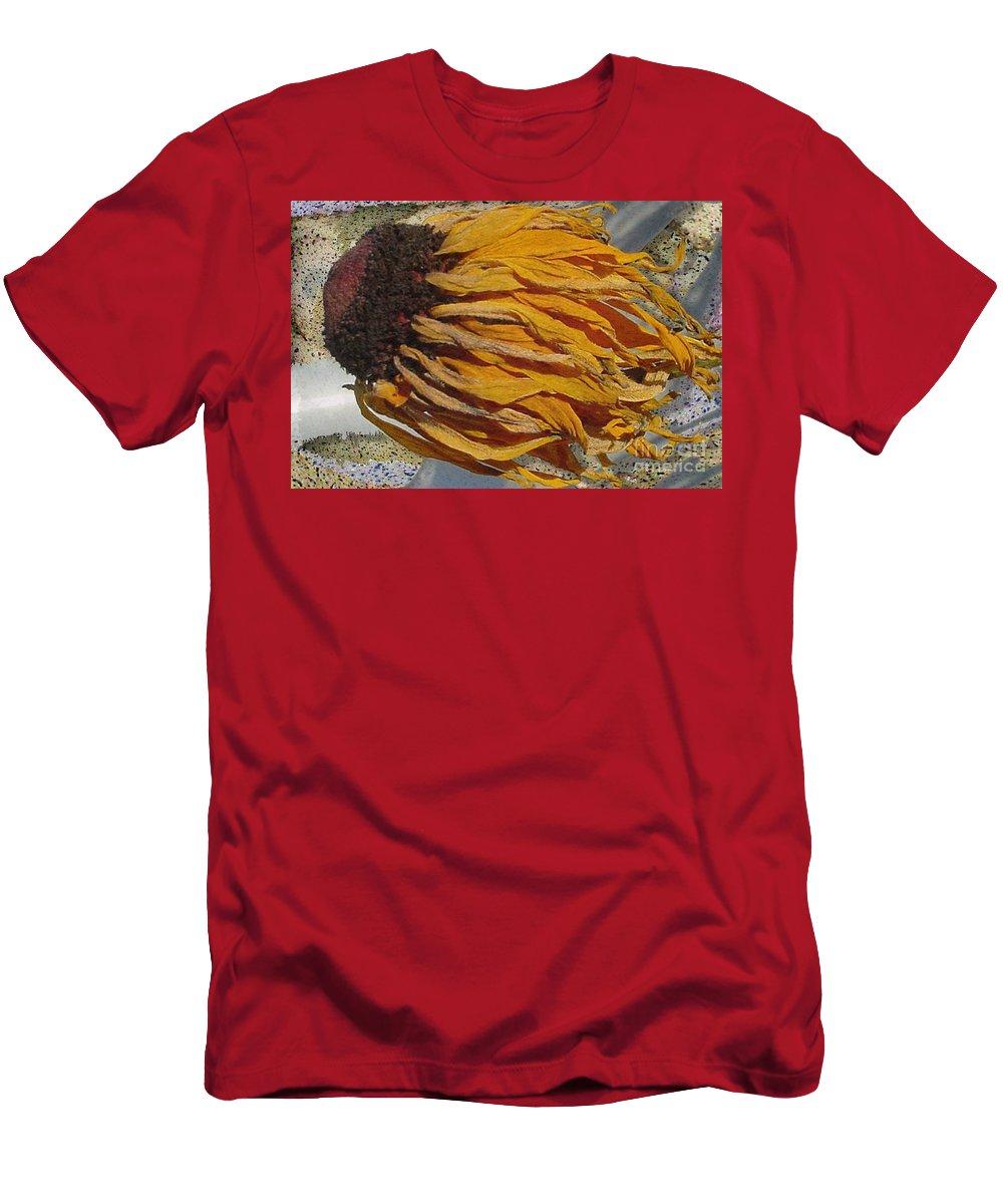 Digital Art Men's T-Shirt (Athletic Fit) featuring the digital art Winter Flower by Ron Bissett