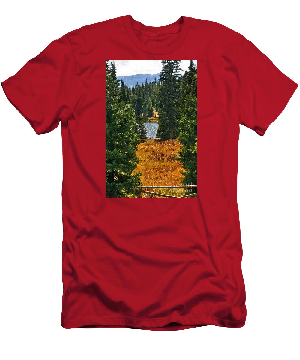 Men's T-Shirt (Athletic Fit) featuring the photograph With A View by Sam Stanton