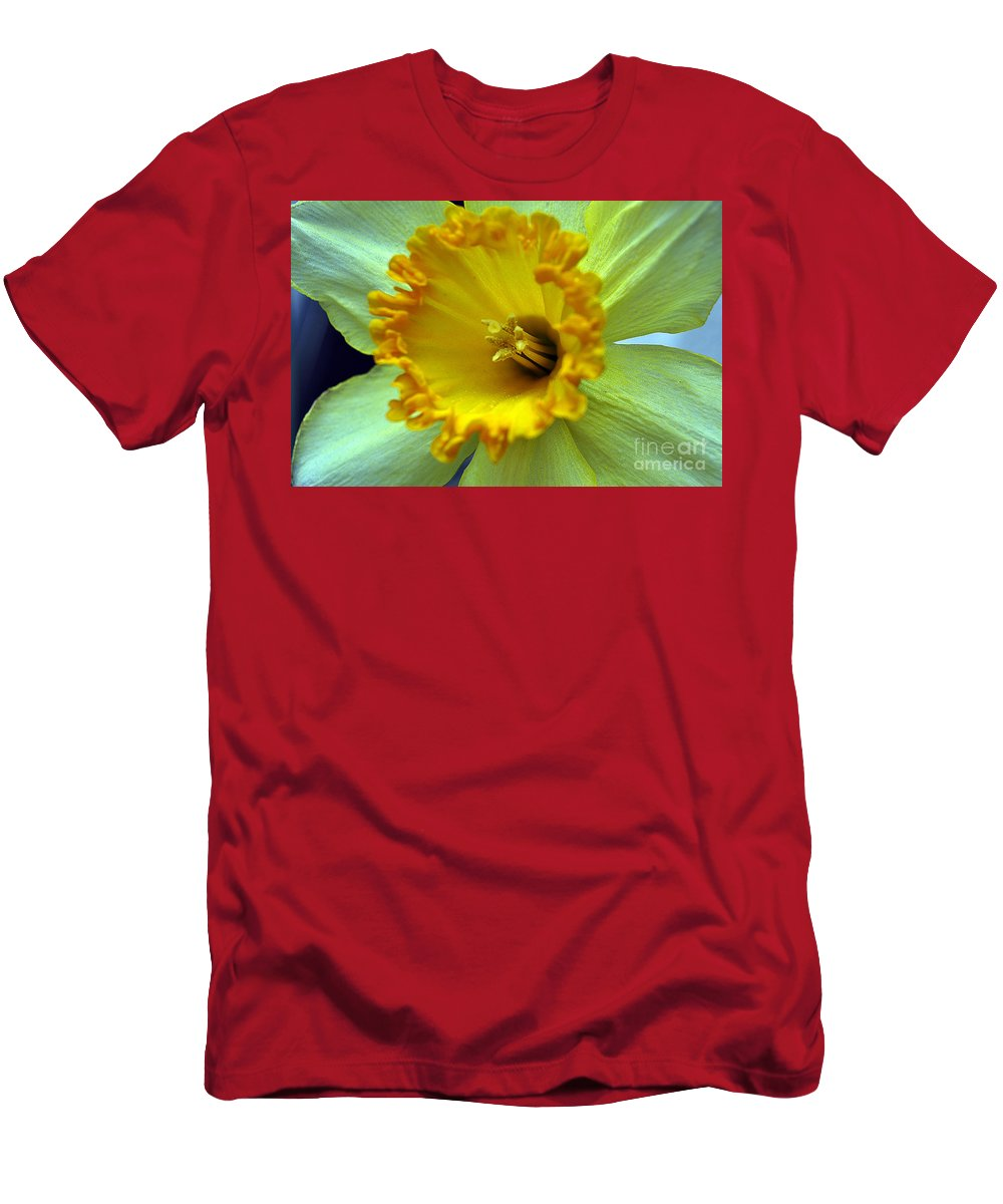 Clay Men's T-Shirt (Athletic Fit) featuring the photograph Yellow Floral by Clayton Bruster
