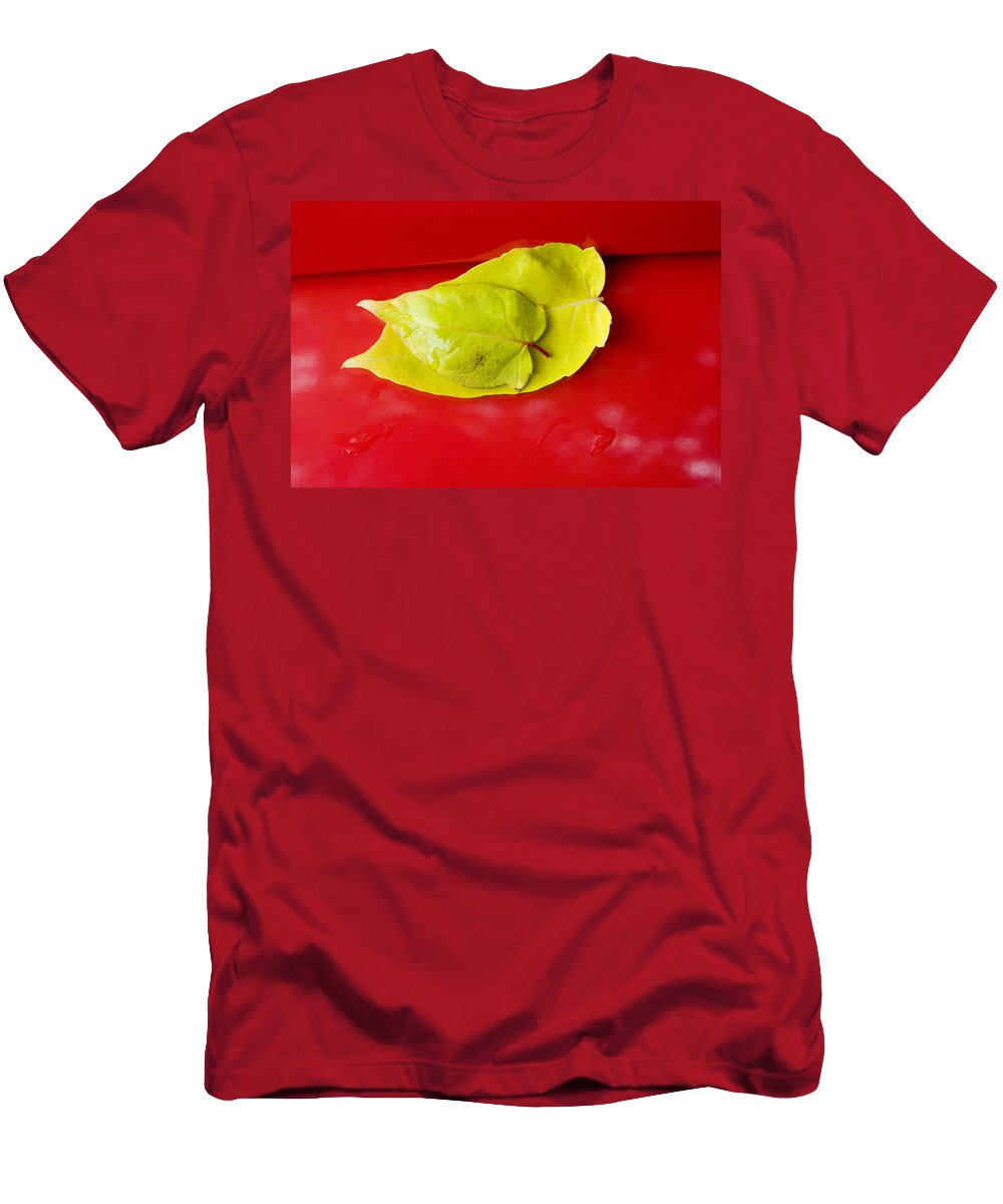 Yellow Men's T-Shirt (Athletic Fit) featuring the photograph Yellow Leaves by Karen Ulvestad