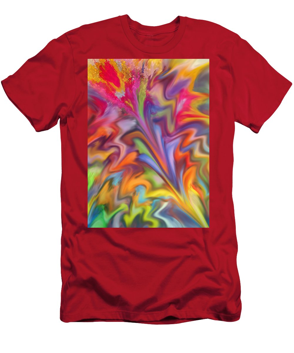 Abstract T-Shirt featuring the digital art You Got Color by Ian MacDonald