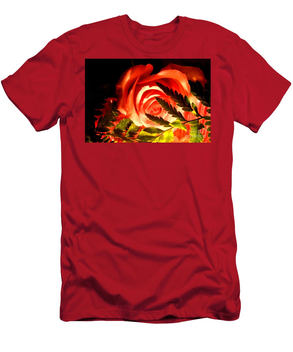 Rose Men's T-Shirt (Athletic Fit) featuring the photograph You Light Up My Life by Reva Steenbergen