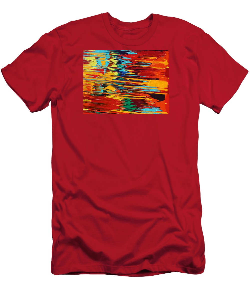 Fusionart Men's T-Shirt (Athletic Fit) featuring the painting Zap by Ralph White
