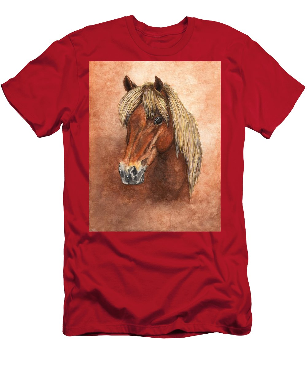 Pony Men's T-Shirt (Athletic Fit) featuring the painting Ziggy by Kristen Wesch